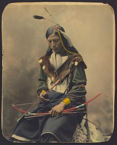 Chief Bone Necklace an Oglala Lakota from the Pine Ridge Indian Reservation (1899)