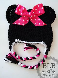 minnie mouse crochet hat - Google Search