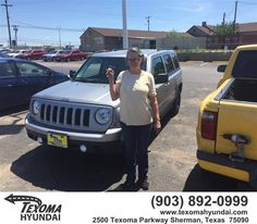https://flic.kr/p/GqH6VH | Congratulations Shirley on your #Jeep #Patriot from Ric Metcalf at Texoma Hyundai! | deliverymaxx.com/DealerReviews.aspx?DealerCode=L967