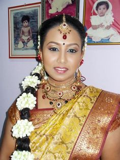 South Indian Bride Hairstyle, Bride Hairstyles, Clothes, Fashion, Hairstyles For Brides, Outfits, Moda, Bridal Hairstyles, Clothing
