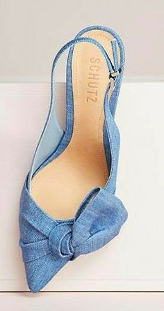 Slingback Shoes, Shoes Heels, Pumps, Cinderella Slipper, Lit Shoes, Denim Shoes, Spring Shoes, Beautiful Shoes, Shoe Collection