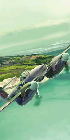 121 Aviation Theme, Aviation Art, Ww2 Aircraft, Military Aircraft, Air Fighter, Fighter Jets, Westland Whirlwind, Military Flights, Aircraft Painting