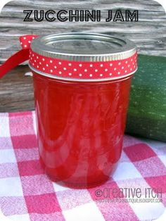 zucchini jam--- I know it sounds odd,  but give it a try.  It's good.