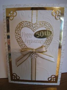 sg-50th anniversary card by Quiltmaniac46 - Cards and Paper Crafts at Splitcoaststampers