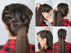 Low Chignon is really a sleek bridal hair messy bun which appears surprisingly l. Low Chignon is r Updo Hairstyles Tutorials, Step By Step Hairstyles, Twist Hairstyles, Hairstyles Haircuts, Trendy Hairstyles, Hairstyle Ideas, Braided Hairstyles For Wedding, Easy Hairstyles For Long Hair, Engagement Hairstyles