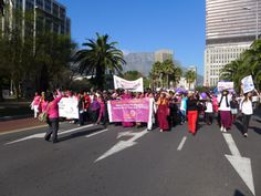 Woman Zone Cape Town. Humanity walk.