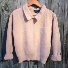 Vintage French Wool Peter Pan blush pink sweater Perfect vintage condition! Super soft and cute fit!  ❌NO TRADES❌ PRICE IS FIRM  Ask before purchasing a bundle so I can customize the discount!  2 items- 10% discount 3 items- 15% discount 4 items- 20% discount 5 items- 25% discount 6+ items- 30% discount Vintage Sweaters