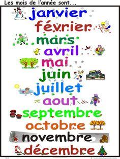 Αποτέλεσμα εικόνας για les mois d'année en francais