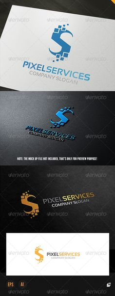 Pixel Services - Logo Design Template Vector #logotype Download it here: http://graphicriver.net/item/pixel-services-logo/5568944?s_rank=1607?ref=nexion