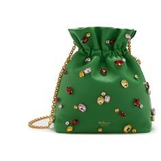 Mulberry Lynton Mini Bucket ($1,740) ❤ liked on Polyvore featuring bags, handbags, shoulder bags, field green, mini purse, mini handbags, bucket shoulder bag, green handbags and chain strap shoulder bag