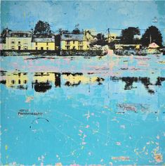 Parrog North Pembrokeshire 66.5cm x 66.5 Canvas Board, Silk Screen Printing, Mixed Media Art, San, Fine Art, Artist, Artwork, Painting, Image