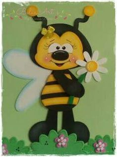 Kids Crafts, Bee Crafts, Foam Crafts, Summer Crafts, Diy And Crafts, Arts And Crafts, Paper Crafts, Decoration Creche, Cartoon Bee