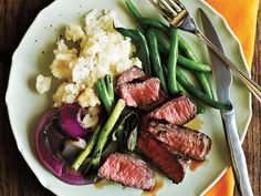 Grilled Steak with Onions and Scallions | If you're cooking on a budget, be sure to notskimp on nutrition.You'll feel good about feeding your family these creatively delectable recipes that won't break the bank. By creating a repertoire ofrecipes featu