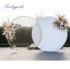 Source LDJ1004 Wedding Backdrop circle round white wedding arch metal for wedding decoration stage on m.alibaba.com