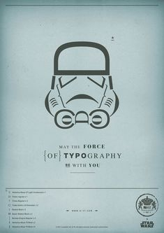 May the Force of Typography Be With You H-57 Creative Station