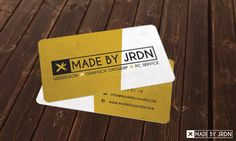 Business card for MADE BY JRDN - Designed by MADE BY JRDN - www.madebyjordan.be #logo #businesscard