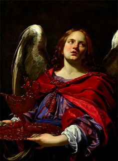 VOUET, Simon (1590-1649)Angel Holding Vessel and Towel for Washing Hands of Pilate1625Oil on canvas, 104.3 x 78.4 cmMinneapolis Institute of ArtsEd. Orig.