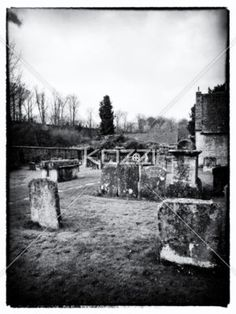 corroded headstones - Corroded headstones in an old cemetery in England