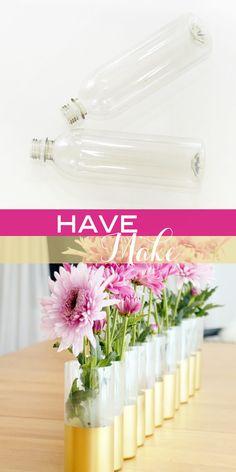 turn water bottles into vases