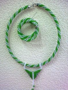 "Jewelry set ""Snake"" - a necklace and bracelet by Floristo4ka on Etsy"