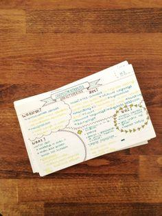 Flashcards / studyblr