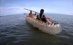 Transforming plastic waste into bottle boats in Cameroon - This Is Africa Lifestyle