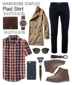 """""""Mad for Plaid..."""" by glamorous09 ❤ liked on Polyvore featuring Aéropostale, Topman, Sperry, Banana Republic, Mulberry, Carrera, Valextra, Tod's, êShave and Shinola"""