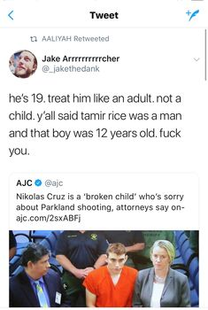 Bullshit! He is an adult and should be tried as such it's too late for sorry, people are gone forever