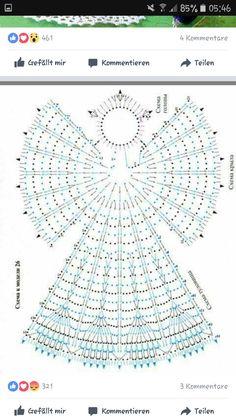 crochet angels xmas - Ngel Muster Selber Machen