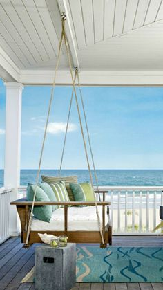 Porch swing for beach home!