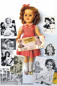 Antiga Boneca Shirley Temple 1960