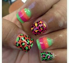 Crazy summer nails