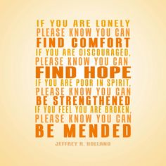 Be Mended | Creative LDS Quotes
