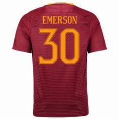 16-17 Roma Home #30 Emerson Cheap Replica Jersey [G00819]