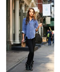 Denim button-up's are key for any season. They have been around forever and still are in style. they are great layered, or by themselves.