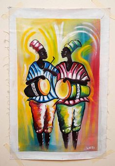 African Drummer. Unframed  http://afrimood.com/products/home-decoration/paintings/african-drummer.html#.UKakxIVJOi4