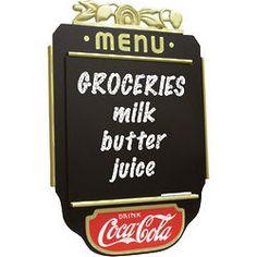 Coca-Cola Menu Chalkboard