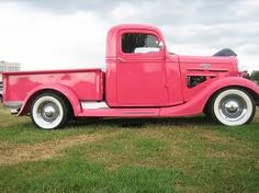 pink vintage truck~oh how I want one!