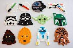 Your place to buy and sell all things handmade Birthday Cup, Star Wars Birthday, Star Wars Party, Star Wars Cake Toppers, Fondant Cupcake Toppers, Frozen Fondant, Lego Cake, Paw Patrol Party, Star Wars Gifts