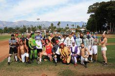 The Santa Barbara City College Vaquero Baseball Team got into the Halloween Spirit Santa Barbara City College, Spirit Halloween, Dolores Park, Baseball