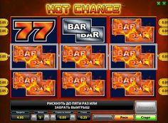 """Kuvaus hedelmäpeli Hot Chance. Hot Chance Hedelmäpeliin on virtuaalinen versio vanhasta """"yhden aseellisen rosvot."""" Mutta toisin kuin klassinen lähtö peli on moderni grafiikka ja lisää myös bonus peli, toisin kuin esimerkiksi samanlainen laite sen Sizzling Hot. Kokeneet pelaajat haluavat pelata yksikössä Hot mahdollisuus oikeall"""