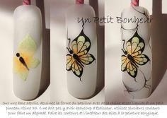 By Un petit bonheur Diy Nails, Manicure, Nailart, One Stroke Nails, Butterfly Nail Art, Dream Nails, Beautiful Nail Designs, Nail Tutorials, Nail Artist