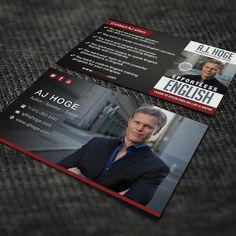 Design winning professional card for author, motivational speaker and English coach by BertManuel