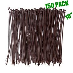 Wide 10 Inch 150 Pack Strong Wood Brown Color Standard Durable Cable Zip Ties Wood Color Outdoor Garden Office And Kitchen Use Wood Colors Durable Zip Ties