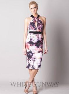 Passion pink floral bardot midi dress