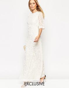 230b34f045 Needle   Thread Fleur Devore Velvet Maxi Dress at asos.com