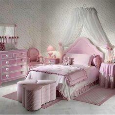 Bedroom Design, Little Girls Bedroom Ideas Pink Decoration Bed Wardrobe Oink Carpet Love Sofas And Love Tables Heart Themed Kids Room Light .