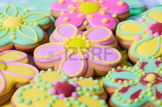 Easter traditional Gingerbread cookies background photo