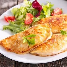Low Carb Ham Mozzarella Pancakes with Salad - Hearty Pancake Recipe . - Low Carb Ham Mozzarella Pancakes with Salad – Hearty Pancake Recipe Low Carb Ham Mozzarella Panca - Low Carb Chicken Recipes, Low Carb Recipes, Healthy Recipes, Lunch Recipes, Mozzarella, Low Carb Lunch, Low Carb Diet, Keto Foods, Feta