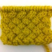 Example of the Woven Cable Stitch